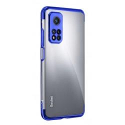 TPU obal na Samsung Galaxy S21 Ultra 5G s barevným rámečkem - Modrá
