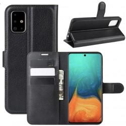 Knížkové pouzdro s poutkem pro Samsung Galaxy A02s - Černá