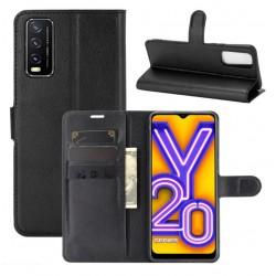 Knížkové pouzdro s poutkem pro Vivo Y20s - Černá