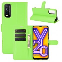 Knížkové pouzdro s poutkem pro Vivo Y20s - Zelená