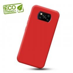 Liquid silikonový obal na Xiaomi POCO X3 Pro   Eco-Friendly - Červená