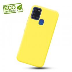Liquid silikonový obal na Samsung Galaxy A21s   Eco-Friendly - Žlutá