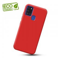 Liquid silikonový obal na Samsung Galaxy A21s   Eco-Friendly - Červená