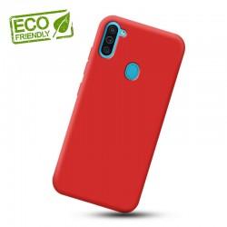 Liquid silikonový obal na Samsung Galaxy M11   Eco-Friendly - Červená