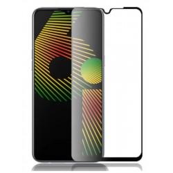Tvrzené ochranné sklo s černým rámečkem na mobil Realme 6i