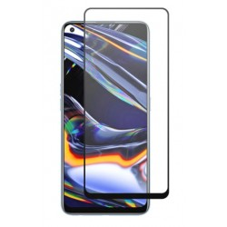 Tvrzené ochranné sklo s černými okraji na mobil Realme V5