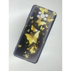 Silikonový obal na Xiaomi POCO X3 NFC s potiskem - Zlatí motýli