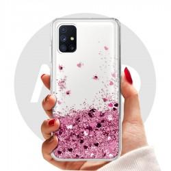 Obal na Samsung Galaxy M51 | Přesýpací kryt se srdíčky