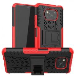 Odolný obal na Xiaomi POCO X3 NFC  Armor case - Červená