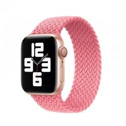 Pletený nylonový řemínek navlékací pro Apple Watch 38/40mm - Růžová
