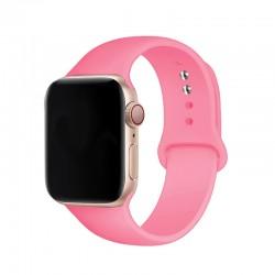 Silikonový řemínek s knoflíčkovým upínáním pro Apple Watch 38/40mm - Růžová