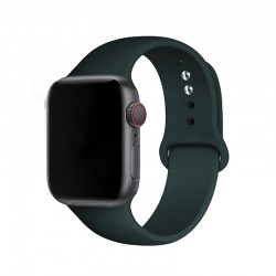 Silikonový řemínek s knoflíčkovým upínáním pro Apple Watch 42/44mm - Khaki