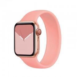 Silikonový řemínek navlékací pro Apple Watch 38/40mm - Grapefruitová