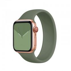 Silikonový řemínek navlékací pro Apple Watch 42/44mm - Khaki