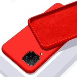 Liquid silikonový obal na Samsung Galaxy A12   Eco-Friendly - Červená