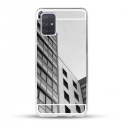 Zrcadlový TPU obal na Samsung Galaxy A52 - Stříbrný lesk