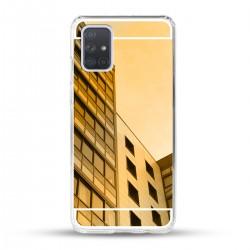 Zrcadlový TPU obal na Samsung Galaxy A52 - Zlatý lesk