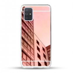 Zrcadlový TPU obal na Samsung Galaxy A72 - Růžový lesk