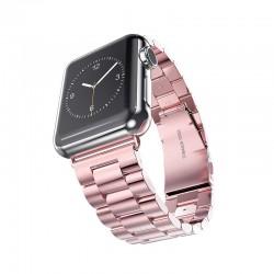 Kovový tah se zaklapávací sponou pro Apple Watch 38/40mm - Růžová
