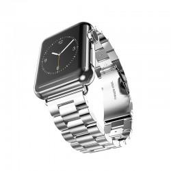 Kovový tah se zaklapávací sponou pro Apple Watch 42/44mm - Stříbrná