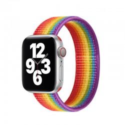 Nylonový řemínek navlékací pro Apple Watch 42/44mm - Rainbow