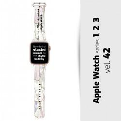 Vlastní řemínek vel. 42 pro Apple Watch 1, 2, 3