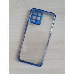 TPU obal na Realme 8 s barevným rámečkem - Modrá