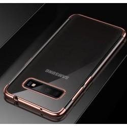 TPU obal na Samsung Galaxy S10 5G s barevným rámečkem - Růžová