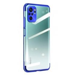 TPU obal na Xiaomi POCO F3 s barevným rámečkem - Modrá