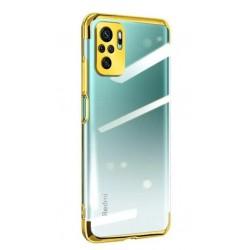 TPU obal na Xiaomi POCO F3 s barevným rámečkem - Zlatá