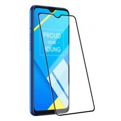 Tvrzené ochranné sklo s černými okraji na mobil Realme C21