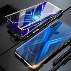 Magnetický kryt  360° s tvrzenými skly na Huawei P Smart Z - Černá
