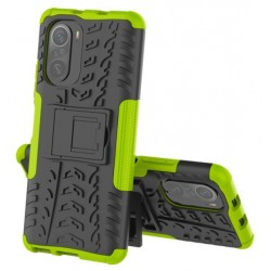 Odolný obal na Xiaomi POCO F3 | Armor case - Zelená