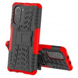 Odolný obal na Xiaomi POCO F3 | Armor case - Červená