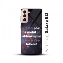 Obal s vlastní fotkou a skleněnými zády na mobil Samsung Galaxy S21
