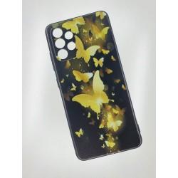 Silikonový obal s potiskem na Samsung Galaxy A32 5G - Zlatí motýli