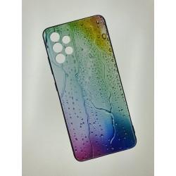 Silikonový obal s potiskem na Samsung Galaxy A52 5G - Kapky