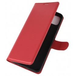 Knížkové pouzdro s poutkem pro Xiaomi Redmi Note 10S - Červená