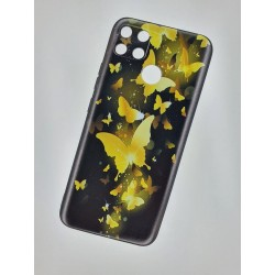 Silikonový obal na Realme 7i s potiskem - Zlatí motýli