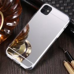 Zrcadlový TPU obal na Samsung Galaxy A22 5G - Stříbrná
