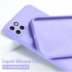 Liquid silikonový obal na Samsung Galaxy A22 5G   Eco-Friendly - Modrá