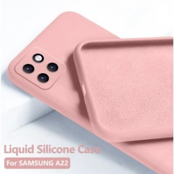 Liquid silikonový obal na Samsung Galaxy A22 5G   Eco-Friendly - Růžová