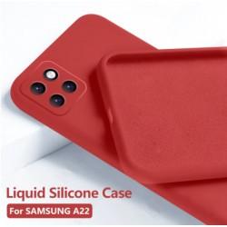 Liquid silikonový obal na Samsung Galaxy A22 5G   Eco-Friendly - Červená