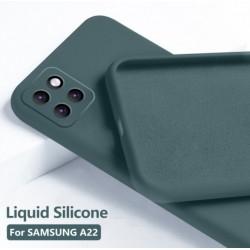 Liquid silikonový obal na Samsung Galaxy A22 5G   Eco-Friendly - Zelená