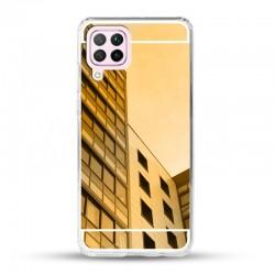 Zrcadlový TPU obal na Samsung Galaxy A22 (4G) - Zlatá
