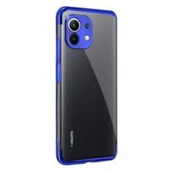 TPU obal na Xiaomi Mi 11 s barevným rámečkem - Modrá