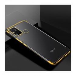 TPU obal na Realme Narzo 30A s barevným rámečkem - Zlatá
