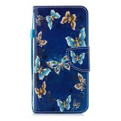 Obrázkové pouzdro na Samsung Galaxy A22 5G - Zlatí motýlci