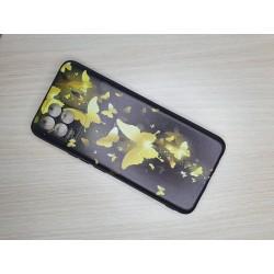 Silikonový obal na Realme 8 s potiskem - Zlatí motýli