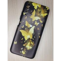 Silikonový obal na Xiaomi Redmi 9T s potiskem - Zlatí motýli